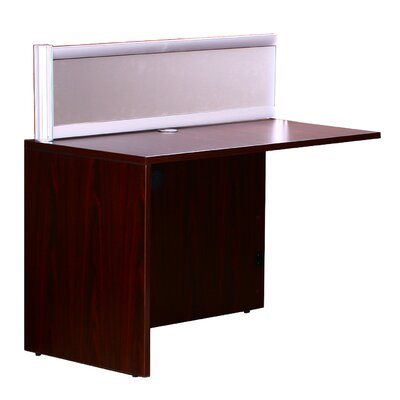 Reception 42.5 H x 48 W Reversible Desk Return Finish: Mahogany