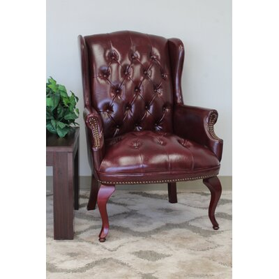 Sedgemoor Traditional Series Lounge Chair Upholstery: Oxblood Vinyl