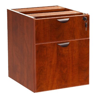 Case Goods 19 H x 16 W Desk File Pedestal Finish: Cherry