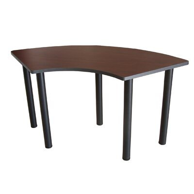 59 W Crescent Training Table Tabletop Finish: Mahogany