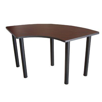 59 W Crescent Training Table Tabletop Finish: Mahogany