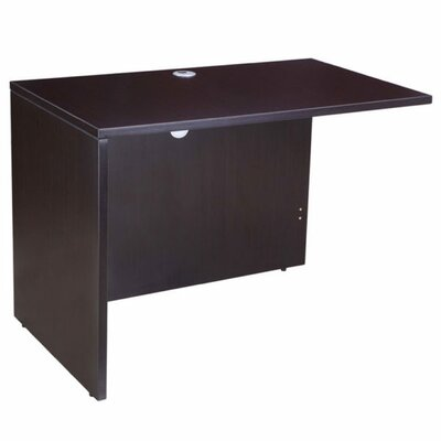 29.5 H x 36 W Reversible Desk Return Finish: Mocha