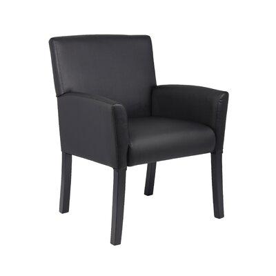 Executive Box Arm Chair with Mahogany Base