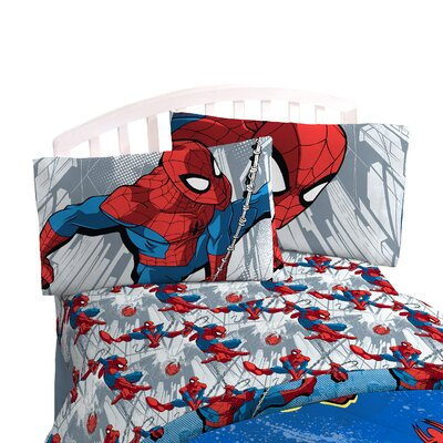 Spider-Man 'City Graphic' Twin Sheet Set JF23681WFML