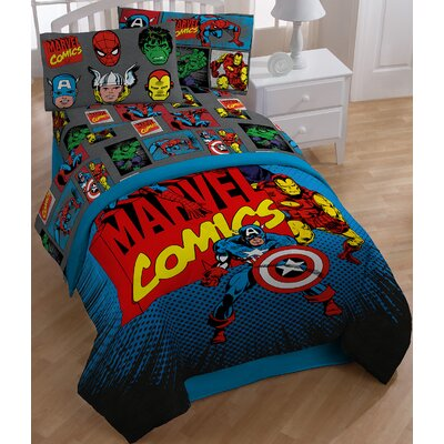 Superheros Twin Sheet Set