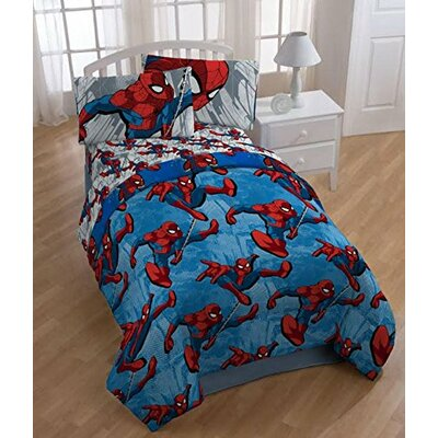 Spider-Man 4 Piece Twin Comforter Set CO0053-18