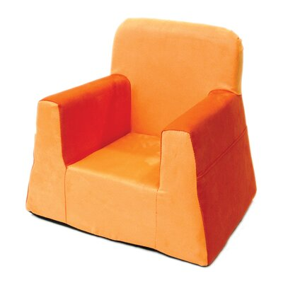 Little Reader Box Cushion Armchair Slipcover Upholstery: Orange