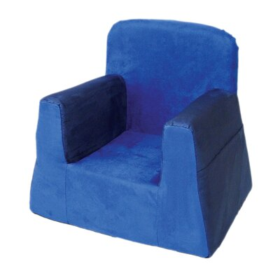 Little Reader Box Cushion Armchair Slipcover Upholstery: Blue