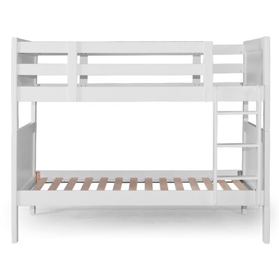 Nesto Twin over Twin Bunk Bed Bed Frame Color: White