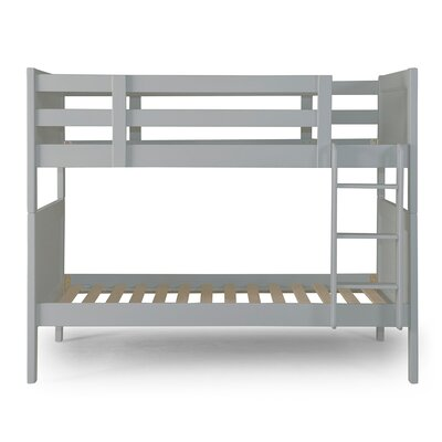 Nesto Twin over Twin Bunk Bed Bed Frame Color: Gray