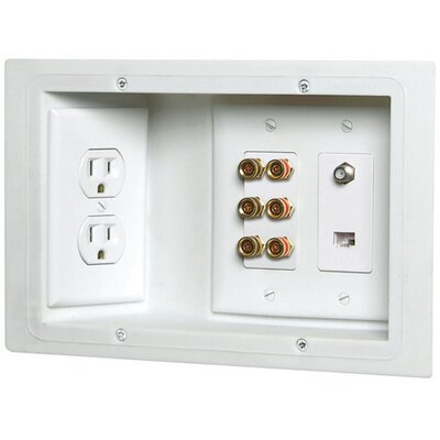 3 Gang Old Work Plate Wall Mounted Outlet Cover