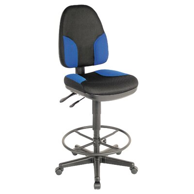 High Back Monarch Office Chair Color: Black and Blue Product Picture 6821