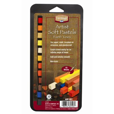 Earth Tone Soft Pastels Set ASP12ET