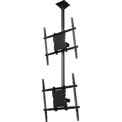 Dual Screen Tilt Universal Ceiling Mount for 37 - 65 Screens