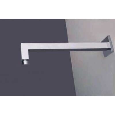 Wall Mounted Square Angled Shower Arm Finish: Brushed Nickel/Stainless Steel