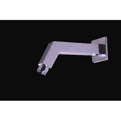 Angled Square Wall Shower Arm Finish: Brushed Nickel/Stainless Steel