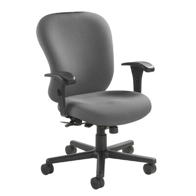 Mid-Back 24/7 Heavy Duty Task Chair Fabric: Foundation - Charcoal Product Picture 91