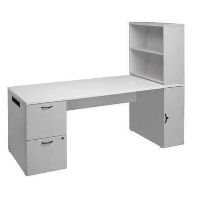 Office In a Box Desk with Bookcase and File Product Image 7385