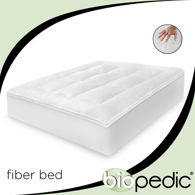 Baffled 100% Cotton Fiber Bed with Bonus Pillows Size: King