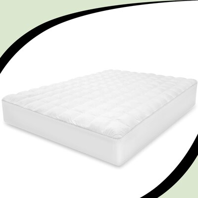 Luxury Top Loft Gel Fiber Mattress Pad Size: King