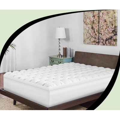 Baffled Gel-Infused and Down Alternative Mattress Topper Size: Queen