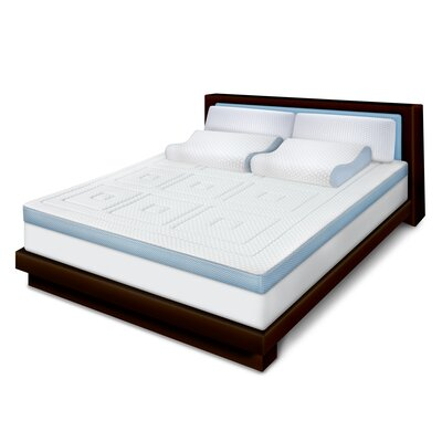 3 Memory Foam Mattress Topper Bed Size: Twin