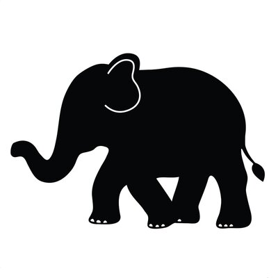 Elephant Chalkboard Wall Decals