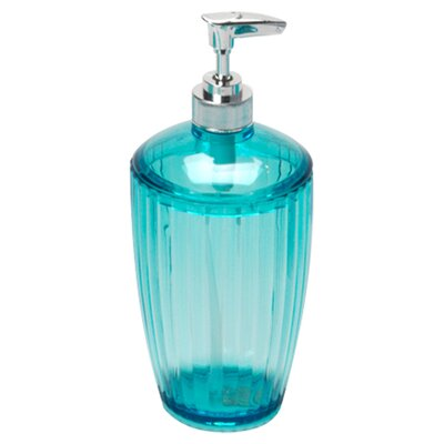 Acrylic Ribbed Lotion Dispenser Color: Cerulean Blue BA-ARC/LO/80