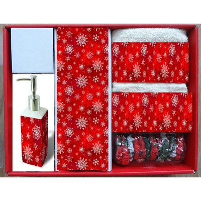 Holiday Snow 16 Piece Shower Curtain Set