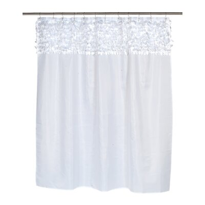 Kimbrel Shower Curtain Color: White