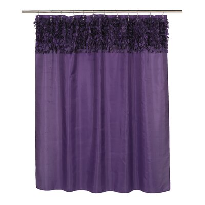 Jasmine Shower Curtain Color: Purple