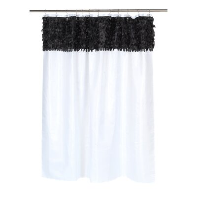 Jasmine Shower Curtain Color: Black / White
