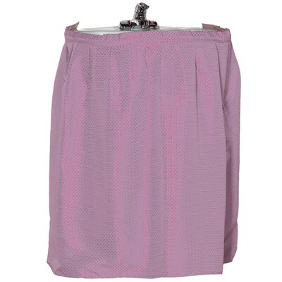 Esther 100% Polyester Dobby Sink Skirt Color: Tea Rose
