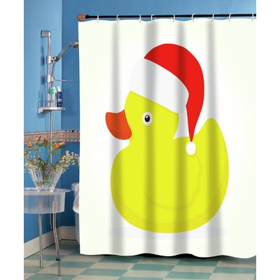 Christmas Ducky Shower Curtain