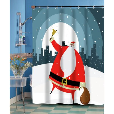 Santa in the City Shower Curtain