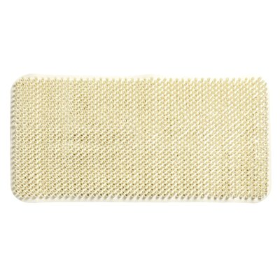 Jerry Vinyl Bath Tub Mat Color: Ivory