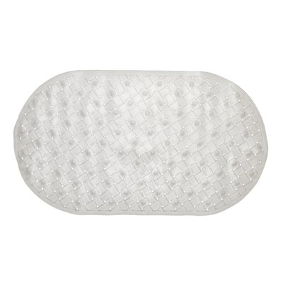 Brittni Weave Look Vinyl Bath Tub Mat, Size 15x27 Color: Clear