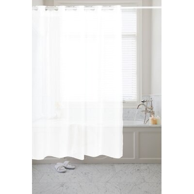 Pre Hooked� Shower Curtain Color: White