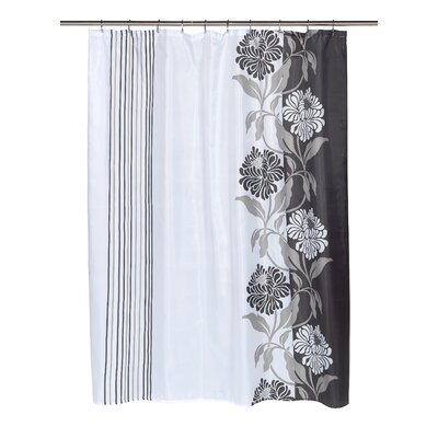 Chelsea Shower Curtain Color: White and Black
