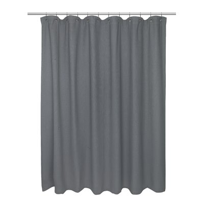 Waffle Weave 100% Polyester Shower Curtain Color: Pewter