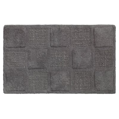 Acker 100% Cotton Bath Mat Color: Pewter