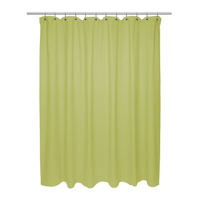 Eldridge Chevron Weave 100% Cotton Shower Curtain Color: Citron