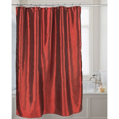 Shimmer Faux Silk Shower Curtain Color: Ruby