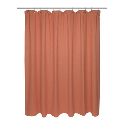 Chevron Weave 100% Cotton Shower Curtain Color: Burnt Coral