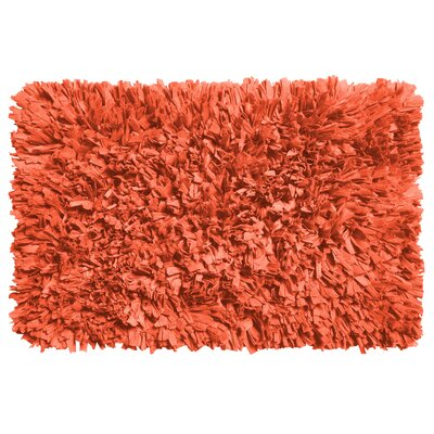 Garlen Cotton/Polyester Bath Mat Color: Burnt Coral