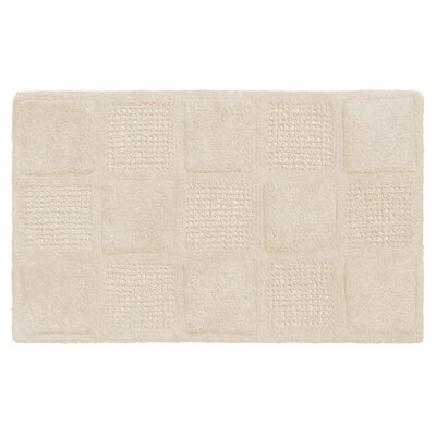 Acker 100% Cotton Bath Mat Color: White