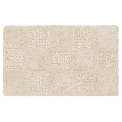 Acker 100% Cotton Bath Mat Color: White