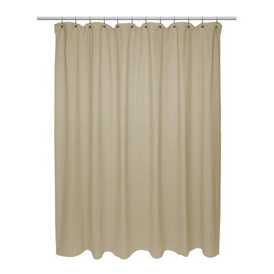 Chevron Weave 100% Cotton Shower Curtain Color: Dark Linen
