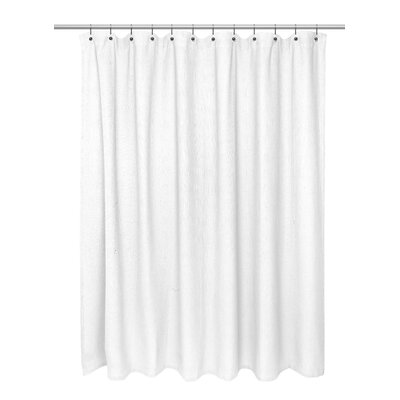 Waffle Weave 100% Polyester Shower Curtain Color: White
