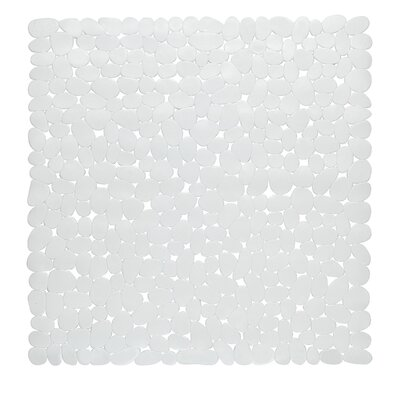 Margarete Vinyl Bath Mat Color: White